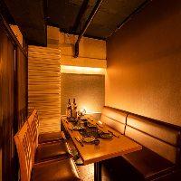 落ち着きのある半個室席は飲み会や女子会など各種シーンに最適。