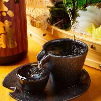 【日本酒で一杯】 季節に合わせた地酒や希少酒が楽しめます