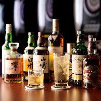 ウィスキーは主要銘柄含め、全24種。これからも増えます!