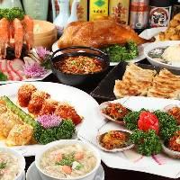 シーズン向き、季節的な宴会料理と飲み放題付コース4000円~
