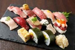 当店自慢のお寿司。 シェフが愛情込めて握りご提供します。