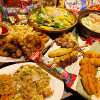 お祭り気分を味わえる絶品屋台料理の数々が宴会コースに勢揃い!