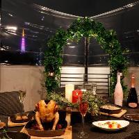 東京タワーが一望できるラグジュアリーなテラス席☆
