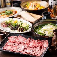 【2h飲み放題付】 そうめんや肉料理を味わうコース4,000円~