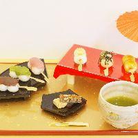 葵は、団子&抹茶セットとなります。人気のメニューです♪