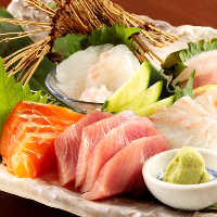 豊洲市場直送鮮魚を使っております!