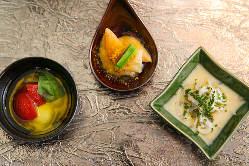 旬の食材で多彩な料理をご用意しております。
