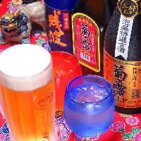 沖縄の地酒も種類豊富にご用意。