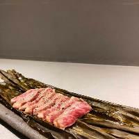 相州牛イチボの昆布〆焼きは昆布の旨みがお肉に染み込み美味。