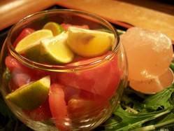 すだちとトマトの~岩塩添え~680yen 旬の野菜も楽しめる!
