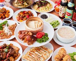 本格中華料理が堪能できる『2H飲み放題付お得コース』は宴会に◎