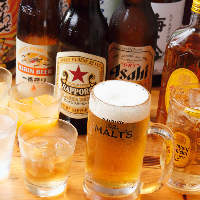 ハイボールや生ビールなどの飲み放題は40種以上!コースでお得に