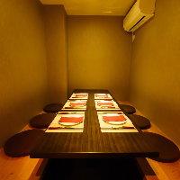 安心の半個室席は2~6名様まで!お早めにご予約下さい!