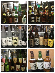 日本酒や焼酎などお酒の種類も豊富にご用意。