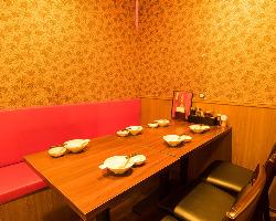 少人数宴会個室、6名様までご利用可能