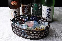 焼酎はもちろん、九州の日本酒も取り揃えております。