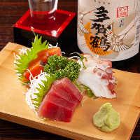 【肴メニュー】 日本酒や焼酎に合う肴メニューは280円~ご用意