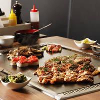 名物ぼった焼きには、多古町産の粘り強く風味豊かな大和芋を使用