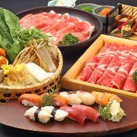 寿司もしゃぶしゃぶもすきやきも食べ放題で大満足!