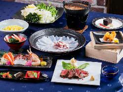 鮮魚・北海道食材・Wスープ鍋を満喫♪ 春食材満喫コース