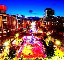 【秋/冬】オータム,イルミネーション.雪まつり.イベント盛りだくさん。画:雪祭り