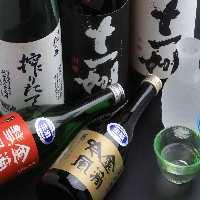 北海道の地酒をはじめ、全国各地の地酒、九州焼酎を多数ご用意