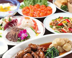 本格中華料理が7品つくコース 飲み放題付で4000円