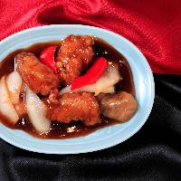 座ったままで中国料理食べ放題おすすめメニュー「黒酢の酢豚」