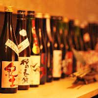 日本全国の四季と恵みがもたらした日本酒をご用意しております。