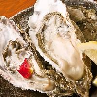 【道産牡蠣(カキ)】生・炭焼き・酒蒸しどれを取っても絶品です。