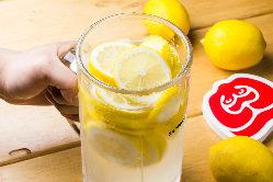 盛り上がり間違いなし!レモン丸ごと2個使用のレモンサワー★