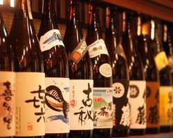 【本格焼酎&地酒多数】 旨い魚に旨い酒!厳選銘柄多数。