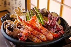 北海道の味覚がたくさん味わえる!北の海鮮焼き(一人前)1800円