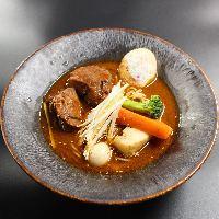 ラムバーグのSOUPCURRY!羊のスープがオススメです。