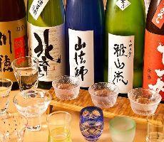 飲み比べ!道産酒、純米酒、辛口酒等、地酒・焼酎問わず利き酒!