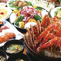 メニューは北海道食材をふんだんに使用した全100種以上。
