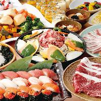 北海道の代表作、ジンギスカン食べ放題。