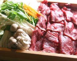 北海道産牛のすき焼き