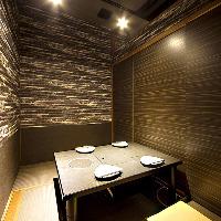 少人数でも使える個室です。プライベートやデートに最適