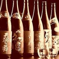 コース+500円で地酒地焼酎も飲み放題になります。