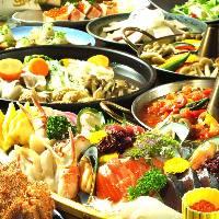 刺身盛り合わせ&季節のお鍋満喫コースは2,980円〜!!