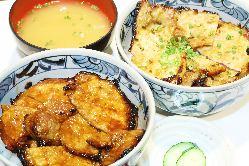 ・帯広名物醤油豚丼! 当店特製味噌豚丼!