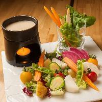 道産の新鮮野菜を使用。食材にもとことんこだわります。