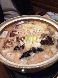 冬の鍋シーズンには、鮟鱇鍋を召し上がる事が可能です(要予約)