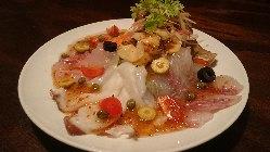 ボリューム満点 海鮮カルパッチョ