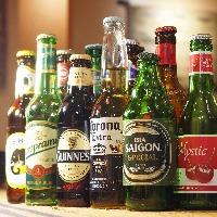 珍しいテキーラビールや女性に人気のチェリービールもあります♪