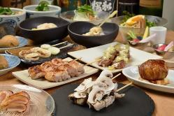 突然の宴会にはコース料理がおすすめです。2,500円(税抜)~