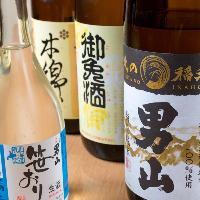旭川には4つの酒蔵があります。各種地酒の飲み比べも可能!