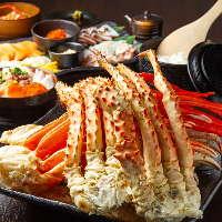 ズワイ蟹、タラバ蟹&海鮮も食べ放題もご用意してます!