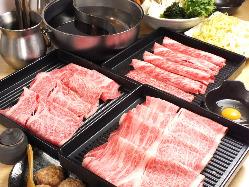日本三大和牛が食べられます。
